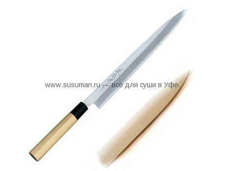 Нож Масахиро высокоуглеродистый с чехлом 27см Япония